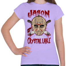 PRINTFASHION Üdvözöllek a kristály tónál - Női póló - Viola
