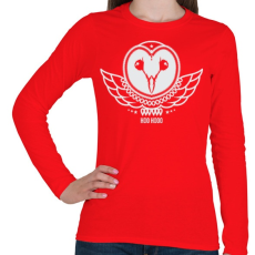 PRINTFASHION UHU  - Női hosszú ujjú póló - Piros