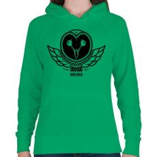 PRINTFASHION UHU - Női kapucnis pulóver - Zöld
