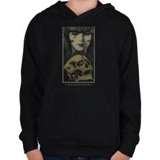 PRINTFASHION Újjászületés - Gyerek kapucnis pulóver - Fekete