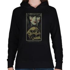 PRINTFASHION Újjászületés - Női kapucnis pulóver - Fekete