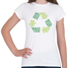 PRINTFASHION Újrahasznosítás - Női póló - Fehér