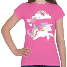 PRINTFASHION Unikornis imádat - Női póló - Rózsaszín
