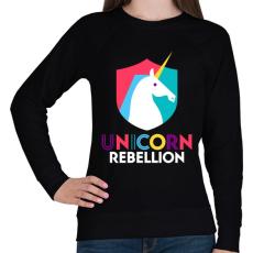 PRINTFASHION Unikornis lázadás - Női pulóver - Fekete