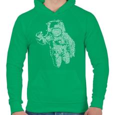 PRINTFASHION Űrhajós - Férfi kapucnis pulóver - Zöld