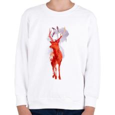 PRINTFASHION Useless deer - Gyerek pulóver - Fehér