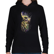 PRINTFASHION Utolsó remény - Női kapucnis pulóver - Fekete