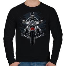 PRINTFASHION Vad motoros - Férfi pulóver - Fekete
