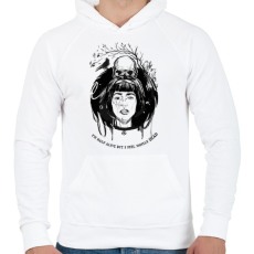 PRINTFASHION Van élet...  - Férfi kapucnis pulóver - Fehér