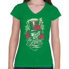 PRINTFASHION Varázslat - Női V-nyakú póló - Zöld
