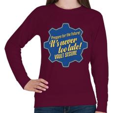 PRINTFASHION Vault Secure - Női pulóver - Bordó
