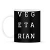 PRINTFASHION Vegetarian - Bögre - Fekete