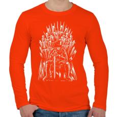 PRINTFASHION Vendetta - Férfi hosszú ujjú póló - Narancs