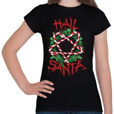 PRINTFASHION Véres karácsony - Női póló - Fekete
