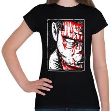PRINTFASHION Véres zombi - Női póló - Fekete