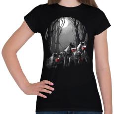PRINTFASHION Vérszomjas falka - Női póló - Fekete
