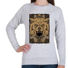 PRINTFASHION Vérszomjas farkas - Női pulóver - Sport szürke