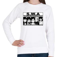 PRINTFASHION Veszélyes csillagharcosok - Női pulóver - Fehér