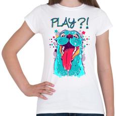 PRINTFASHION Vicces, játékos kutyás póló - Női póló - Fehér