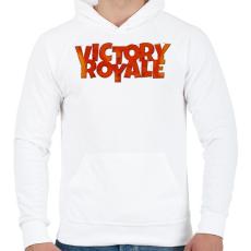 PRINTFASHION Victory Royale - Férfi kapucnis pulóver - Fehér