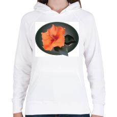 PRINTFASHION Virágom - Női kapucnis pulóver - Fehér