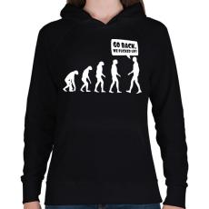PRINTFASHION Vissza, megszívtuk! - Női kapucnis pulóver - Fekete