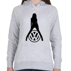 PRINTFASHION Volkswagen fan - Női kapucnis pulóver - Sport szürke