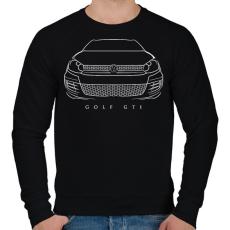 PRINTFASHION Volkswagen Golf GTI - Férfi pulóver - Fekete