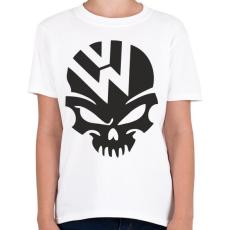 PRINTFASHION Volkswagen Skull - Gyerek póló - Fehér