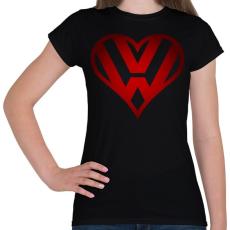 PRINTFASHION Volkswagen szerelem - Női póló - Fekete