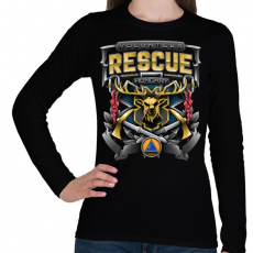 PRINTFASHION Volunteer Rescue - Női hosszú ujjú póló - Fekete