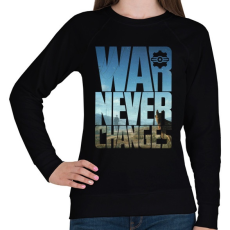 PRINTFASHION War never changes - Női pulóver - Fekete