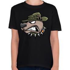 PRINTFASHION Wardog - Gyerek póló - Fekete