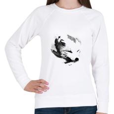 PRINTFASHION White fox - Női pulóver - Fehér