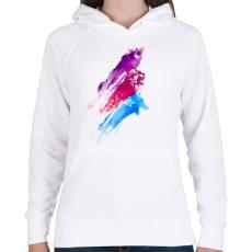PRINTFASHION Wildcolours - Női kapucnis pulóver - Fehér