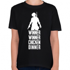 PRINTFASHION Winner Winner Chicken Dinner PUBG - Gyerek póló - Fekete