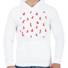 PRINTFASHION Winter foxes  pattern woman - Férfi kapucnis pulóver - Fehér