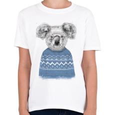 PRINTFASHION Winter koala - Gyerek póló - Fehér