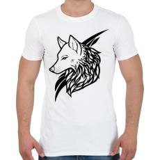 PRINTFASHION Wolf Black - Férfi póló - Fehér