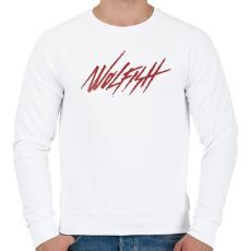PRINTFASHION Wolfish - Férfi pulóver - Fehér