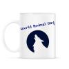 PRINTFASHION world animal day - Bögre - Fehér
