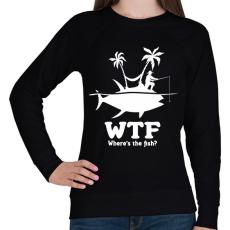 PRINTFASHION WTF - Női pulóver - Fekete