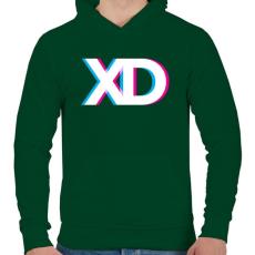 PRINTFASHION XD - Férfi kapucnis pulóver - Sötétzöld