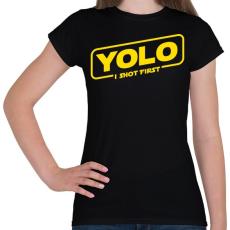 PRINTFASHION Yolo - Női póló - Fekete