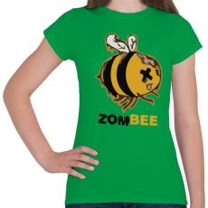 PRINTFASHION ZomBEE - Női póló - Zöld