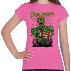PRINTFASHION Zombi apokalipszis - Női póló - Rózsaszín