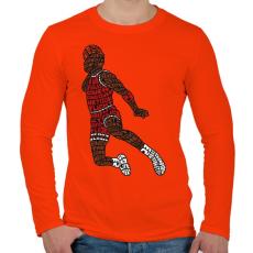 PRINTFASHION Zsákolás - Férfi hosszú ujjú póló - Narancs
