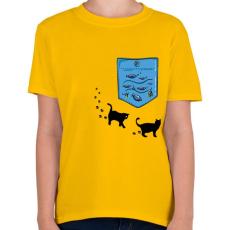 PRINTFASHION Zseb akvárium - Gyerek póló - Sárga