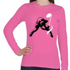 PRINTFASHION Zúzás - Női hosszú ujjú póló - Rózsaszín