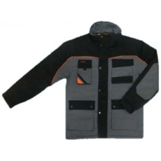 Professional K-Grey Munkavédelmi Téli Hosszú Kabát, Minőség: 5x***** (Kiváló minőségű 320g/m2,65%)